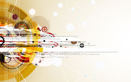 Technologieachtergrond, idee van globale bedrijfsoplossing Royalty-vrije Stock Foto