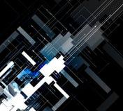 Technologieachtergrond, idee van globale bedrijfsoplossing Stock Foto