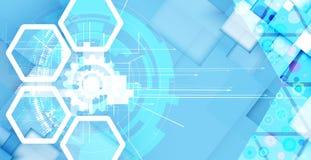 Technologieachtergrond, idee van globale bedrijfsoplossing Royalty-vrije Stock Afbeelding