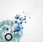 Technologieachtergrond, idee van globale bedrijfsoplossing royalty-vrije illustratie