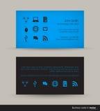 Technologieadreskaartje Stock Afbeelding