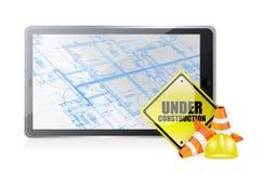 Technologieblauwdruk in aanbouw Stock Afbeeldingen