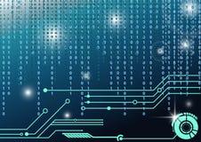 Technologiec$hoch-code digitaler Hintergrund Stockfoto