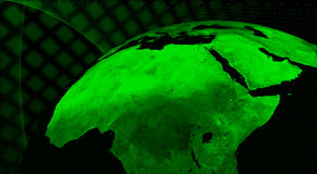 Technologieconcept de Noord- van Afrika Royalty-vrije Stock Fotografie