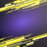 Technologieconcept met gele lijn op purpere achtergrond Royalty-vrije Stock Afbeeldingen