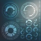 Technologieelement Technologische achtergrond met diverse technologische elementen technoillustratie Royalty-vrije Stock Afbeelding