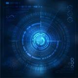 Technologieelement Technologische achtergrond met technologische elementen technoillustratie Stock Afbeeldingen