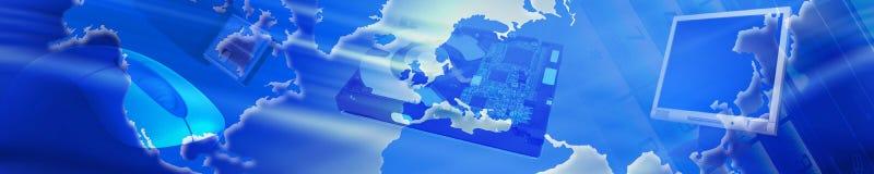 Technologiefahne Lizenzfreies Stockbild