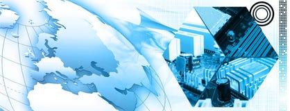 Technologiefahnenhintergrund Lizenzfreies Stockfoto