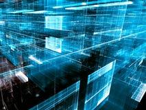 Technologiefractal - abstract digitaal geproduceerd beeld Stock Foto