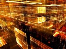Technologiefractal - abstract digitaal geproduceerd beeld Royalty-vrije Stock Fotografie