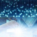 Technologiegeschäftskonzept-Hintergrundnetz Lizenzfreie Stockfotos
