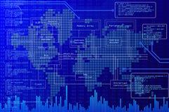 Technologiehintergrund Stockfoto
