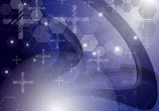 Technologiehintergrund der abstrakten Wissenschaft Stockfotos