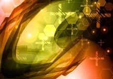 Technologiehintergrund der abstrakten Wissenschaft Lizenzfreie Stockfotografie