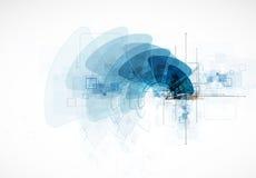 Technologiehintergrund, Idee der Lösung des globalen Geschäfts Stockfoto