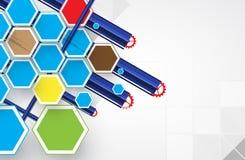 Technologiehintergrund, Idee der Lösung des globalen Geschäfts Stockfotos