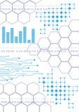 Technologiehintergrund mit Linien, Grafiken Vektor Stockfoto