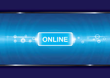 Technologiehintergrund mit online Stockfoto