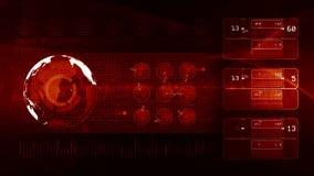 Technologiehintergrund SCHLEIFEN-Rot stock footage