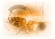 Technologiehintergrundorange Lizenzfreie Stockbilder