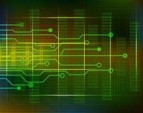 Technologiehintergrundstromkreis mit Linien Vektor Stockfoto