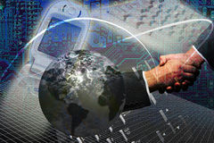 Technologieinternet-Erfolg Lizenzfreie Stockfotos