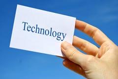 Technologiekarte Lizenzfreies Stockbild
