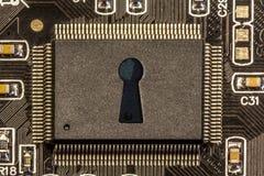 Technologiekonzept getrennt auf Weiß Lizenzfreies Stockfoto