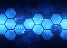 Technologiekonzept-Hintergrundillustration des abstrakten Vektors zukünftige Stockbild