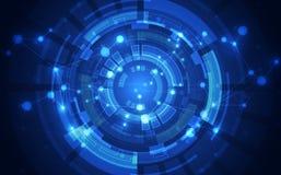 Technologiekonzepthintergrund der abstrakten Wissenschaft Auch im corel abgehobenen Betrag stock abbildung