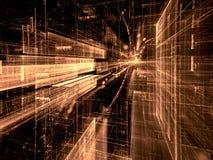 Technologiemanier - abstract digitaal geproduceerd beeld Stock Fotografie