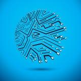 Technologiemededeling om cybernetisch element stock illustratie