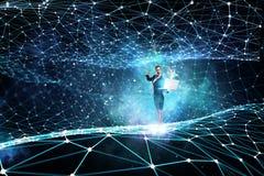 Technologien, die beeindrucken Gemischte Medien stock abbildung