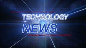 Technologienachrichtenhintergrund stock video