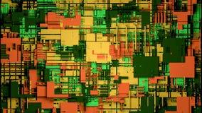 Technologieoberfläche mit vielen Details Einfache Geometrieformen verdrängten zur gelegentlichen Höhe 3d übertragen stockbilder