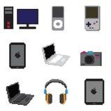 Technologieobjecten pixel Royalty-vrije Stock Afbeeldingen