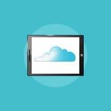 Technologiepictogram, de computerillustratie van tabletpc Stock Afbeeldingen