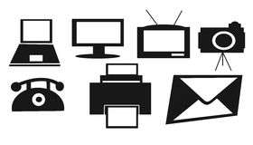 * technologiepictogrammen Stock Foto