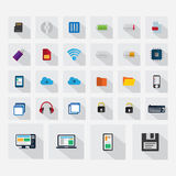 Technologiepictogrammen voor Web dat app worden geplaatst Stock Fotografie