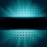 Technologiequadrate mit blauem Aufflackernimpuls. ENV 8 Lizenzfreies Stockfoto