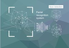 Technologies, approaches to face recognition, vector concept. royalty free illustration