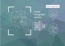 Technologies, approches à la reconnaissance des visages, concept de vecteur illustration libre de droits