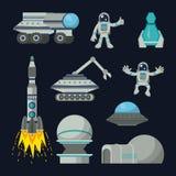 Technologies d'exploration d'espace illustration stock