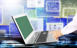 Technologies d'Internet d'ordinateur d'ingénierie Photographie stock