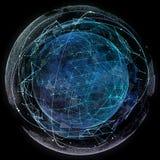 Technologies d'Internet de réseau global Carte du monde de Digital illustration stock