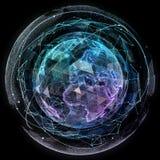 Technologies d'Internet de réseau global Carte du monde de Digital illustration de vecteur
