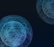 Technologies d'Internet de réseau global Illustration de Digital 3d illustration stock