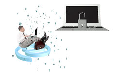 Technologies de connexion internet de sécurité Photographie stock
