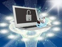 Technologies de connexion internet de sécurité Photos libres de droits